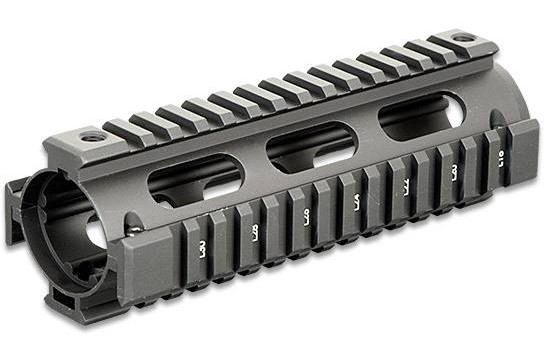 Silver AR-15 Rail on a white background