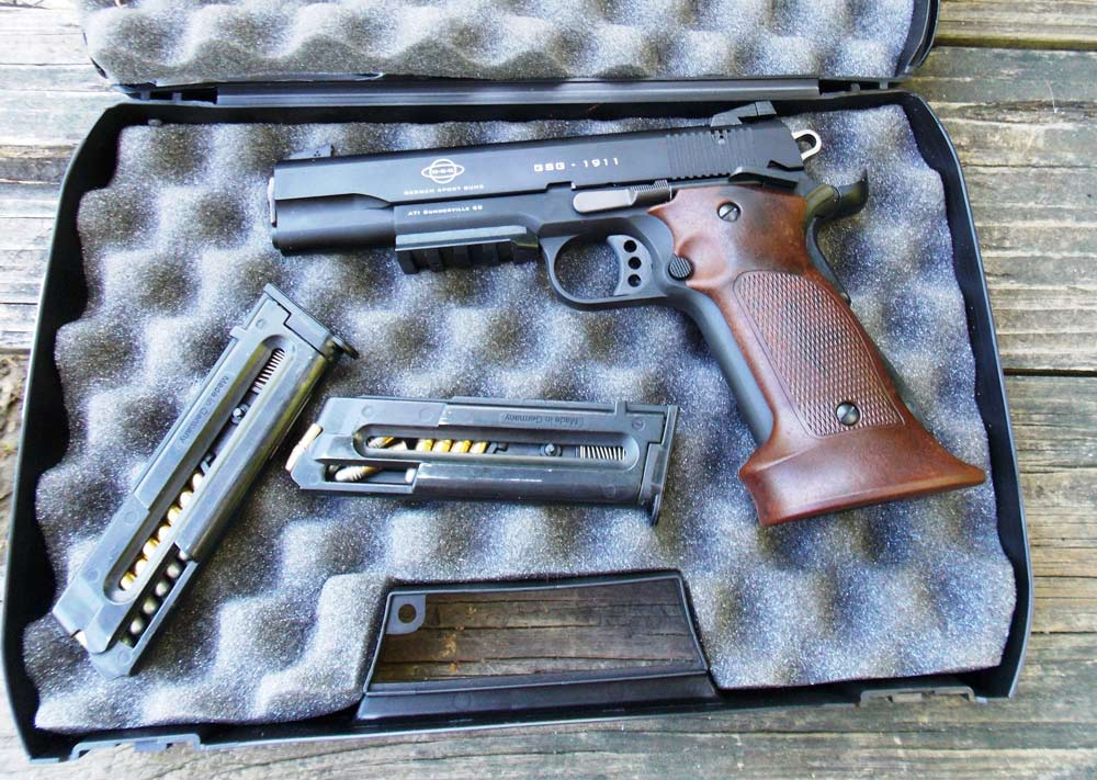 ATI 1911 .22 LR handgun with magazines and hard-sided case