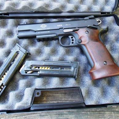 ATI 1911 .22 LR handgun with magazines and hard-sided case