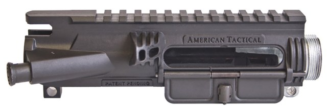 Close up of AR-15 upper receiver made of polymer