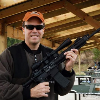 Ace Luciano with his Ruger SR-556E
