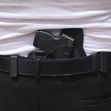 pistol worn in an inside the waistband holster