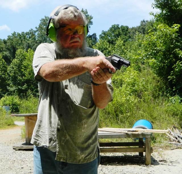 Bob Campbell shooting the Rock Island M206 revolver offhand