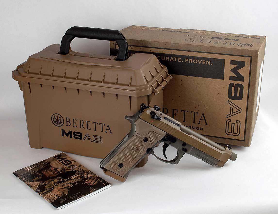 Beretta A3 with ammunition box pistol case