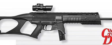 Black Taurus CT G2 with barrel pointed to the right on a white background