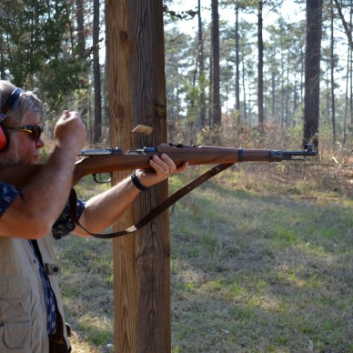 Bob Campbell ejecting shell from a bolt-action Mauser K98