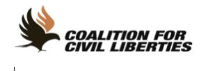 Coalition for Civil Liberties logo