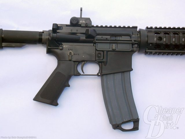Black Colt M4A1, barrel to the right on a white background