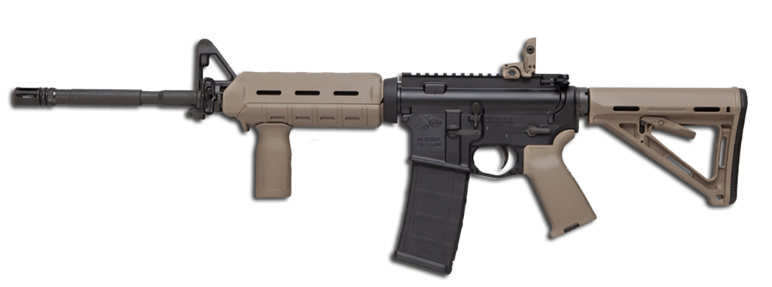 Colt_LE6920MP AR-15 rifle with brown Magpul furniture