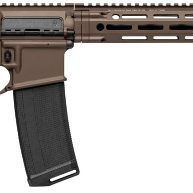 DDM4V7 AR-15 with Cerakote brown finish right profile