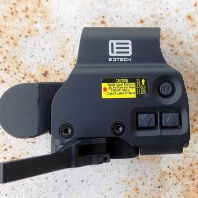 brightness controls on the EOTech HWS