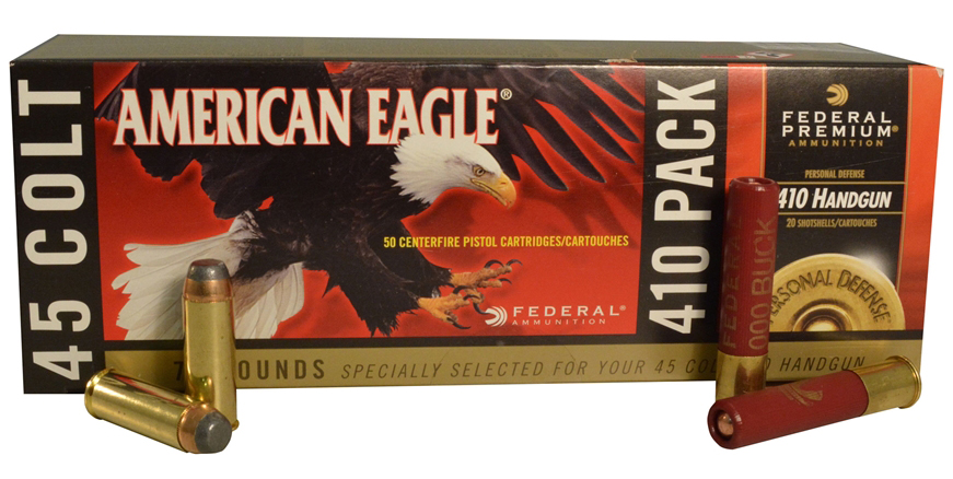 Federal American Eagle .410/.45 Long Colt ammunition combo pack