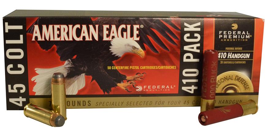 Federal American Eagle .410/.45 Long Colt ammunition combo pack