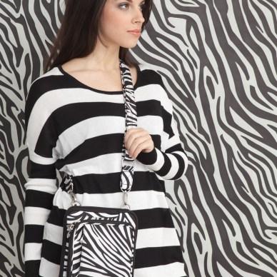 Zebra pattern small purse by Gun Tote'n Mamas