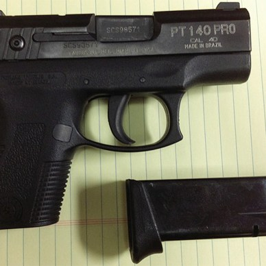 Taurus PT-140PRO pistol that discharged when dropped