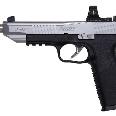 Kahr Arms pistol with compensated barrel