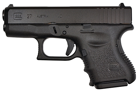 The grip on the 27 I shot was a typical old-school Glock grip.