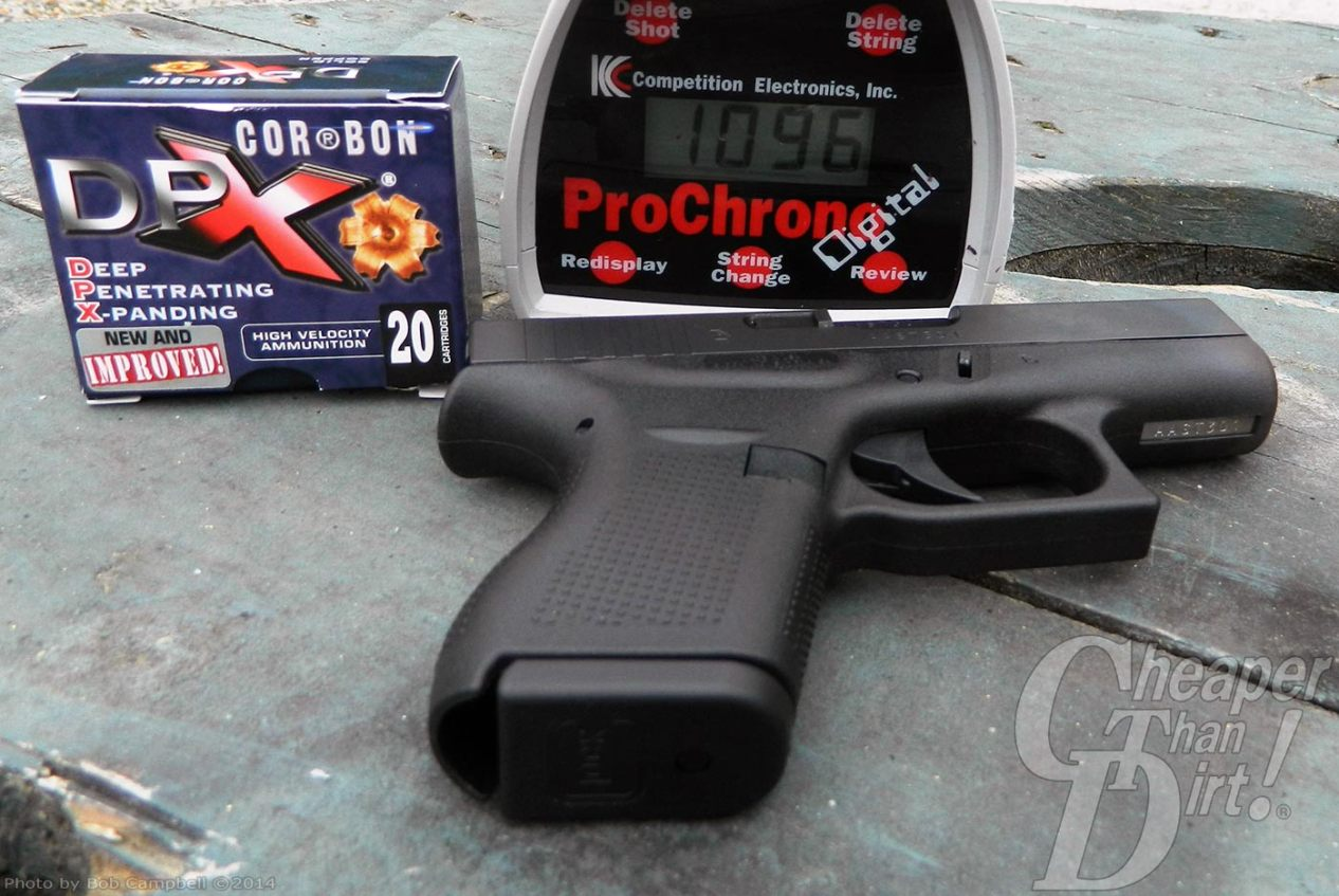 GLOCK G42, CORBON DPX Ammunition and ProChrono