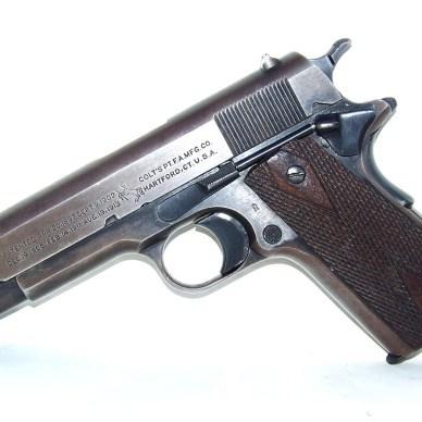 Colt 1911 pistol left side