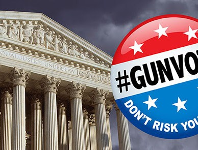 Supreme Court with GunVote logo