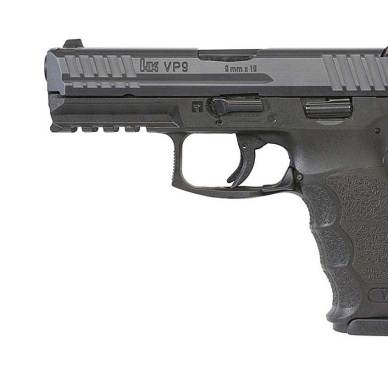 HK VP9 pistol left side black
