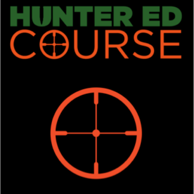 Hunter ed course green and orange logo with crosshairs