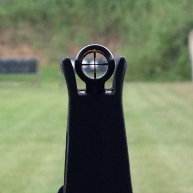 KNS AR-15 crosshair front sight post.