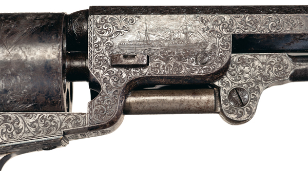Gustave Young Engraved 1851 Colt Navy Revolver