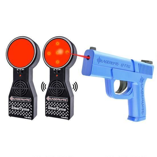 LaserLyte Laser Steel Tyme Kit Compact Trainer 2 Target Boards High Impact ABS Polymer Blue