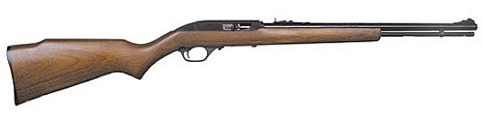 Brown Marlin Model 60 rifle on a white background, barrel pointed to the right