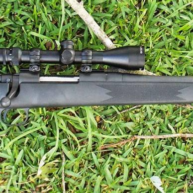 Dark Charcoal Mossberg ATR lying on green grass