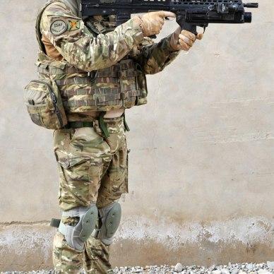 British Soldier Wearing Osprey MK4 Armor Carrier