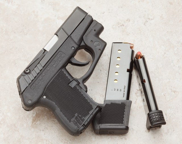 Extended P3AT magazine holds three more rounds. A smaller +1 magazine is also available.
