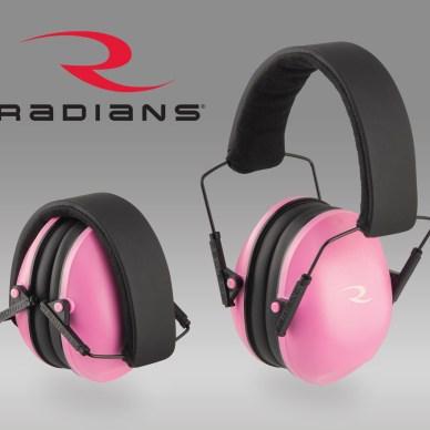 Pink Radians passive shooting earmuffs
