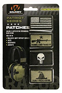 Four Patriot Series patches for the Razor electronic ear muffs.