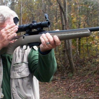 Bob Campbell cycling the bolt of the Ruger American rifle