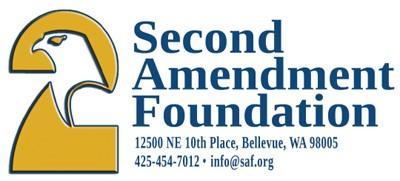 Second Amendment Foundation logo and address