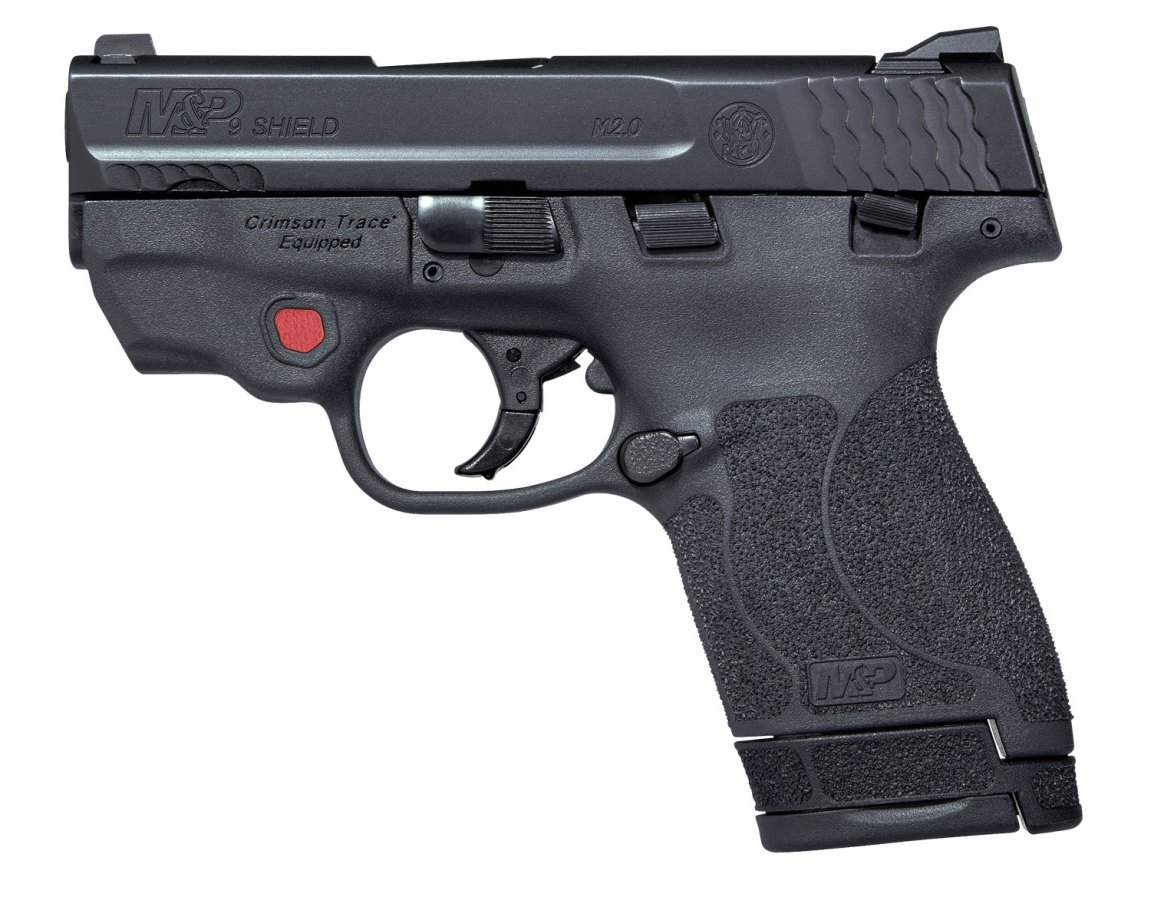 Smith & Wesson compact M&P Shield 2.0 with Crimson Trace laser
