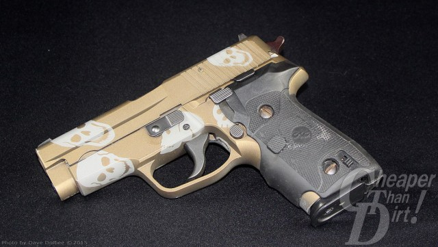 custom SIG Sauer 228 with Cerakote and Crimson Trace Laser Grips