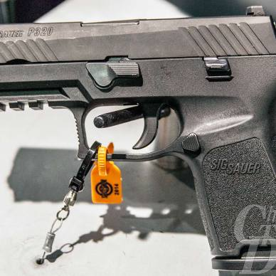 Picture shows the new SIG Sauer polymer-framed P320.