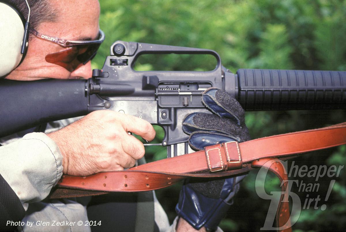 Glen Zediker with Service Rifle Right Side Standing
