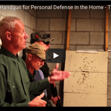 YouTube video cover of Shotgun versus Handgun for home defense