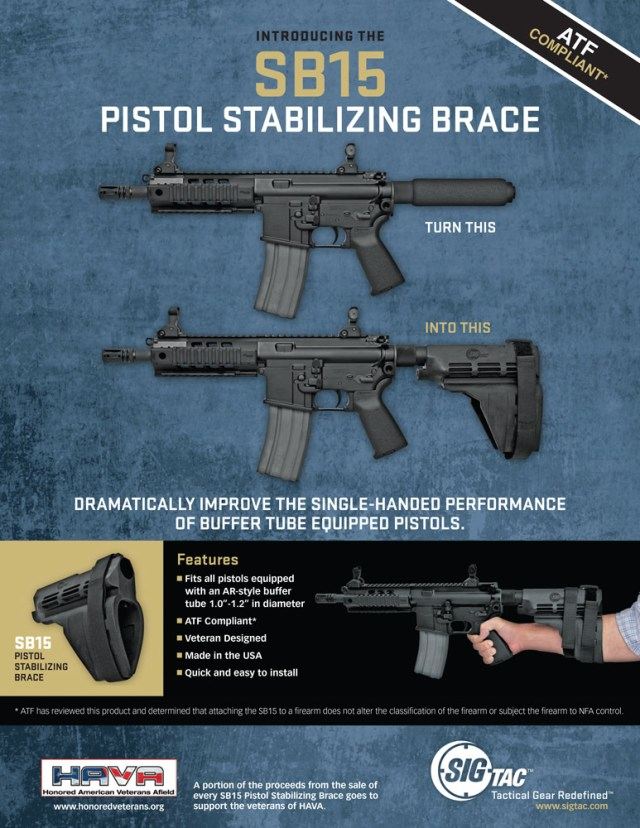 SIG Sauer's pistol-stabilizing device