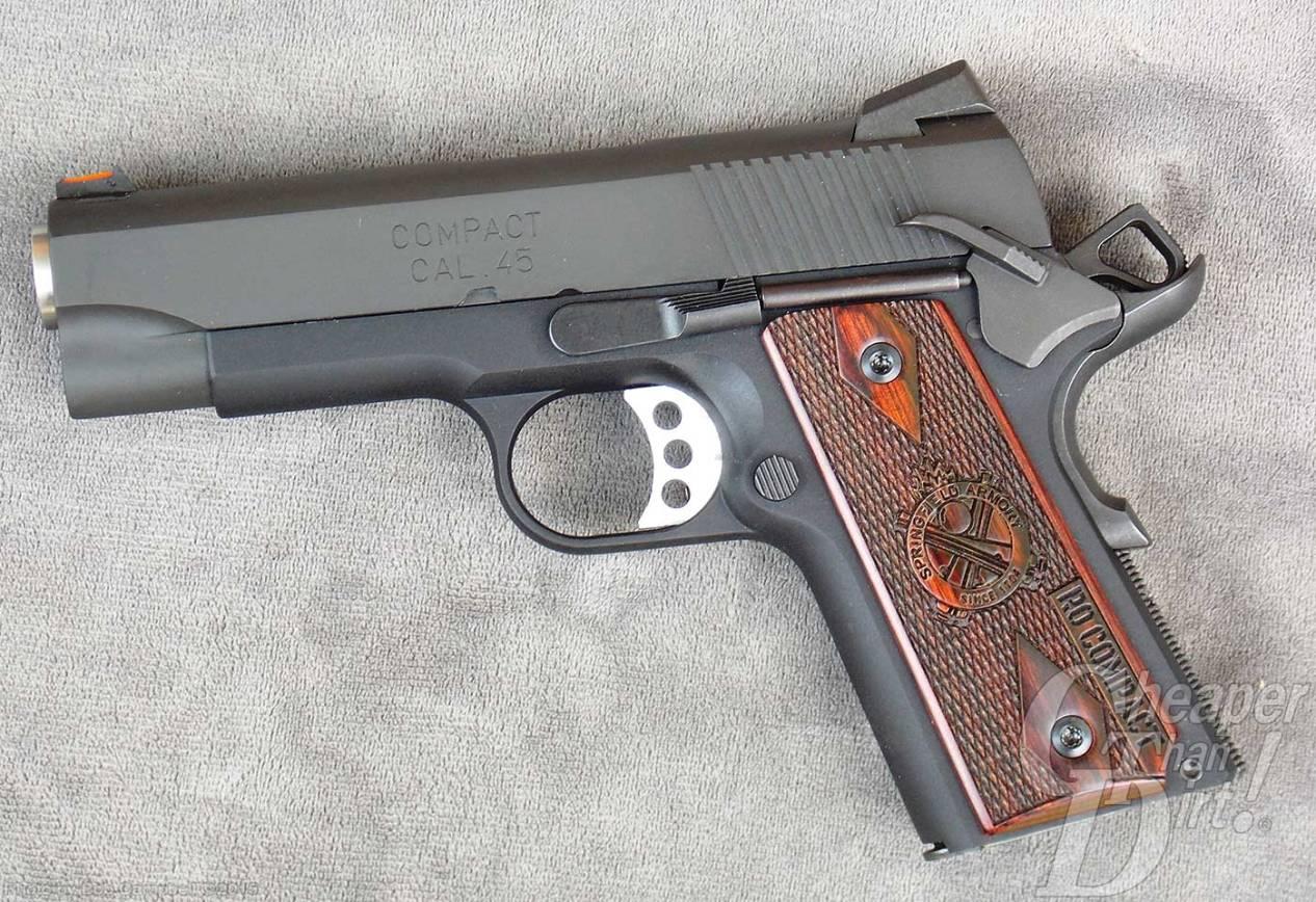 Springfield Range Officer Compact 1911 pistol left