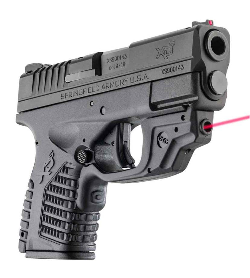 Springfield XD-S with Crimson Trace Laserguard right angle