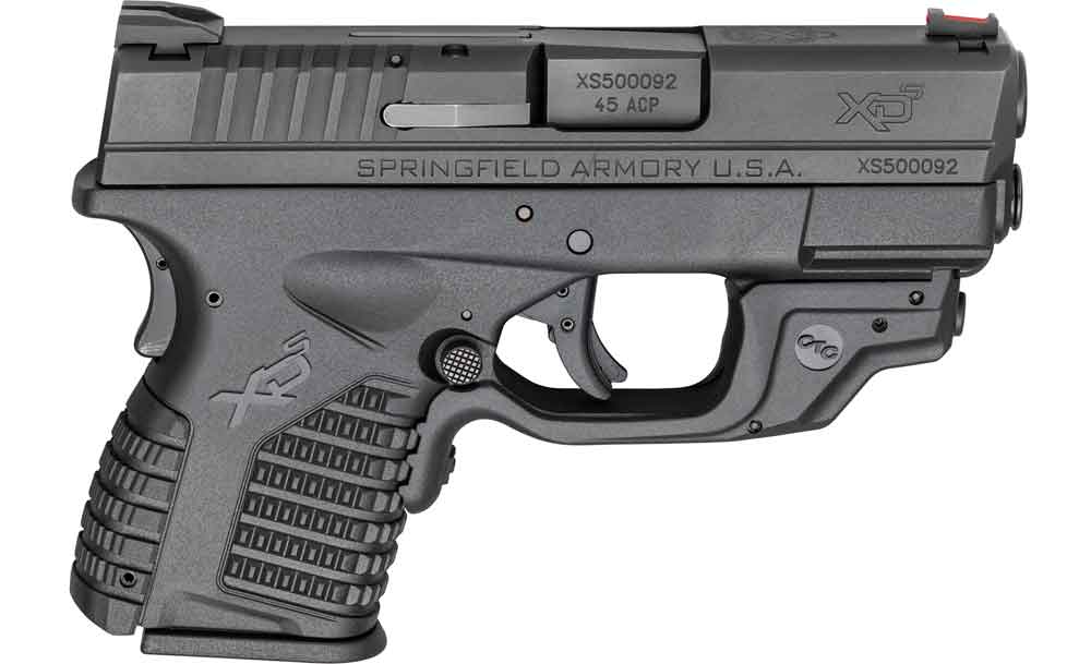 Springfield XD-S with Crimson Trace Laserguard right