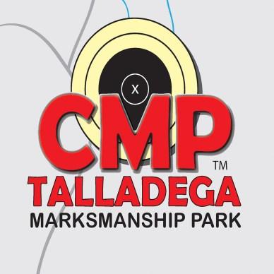 Red CMP Talladega logo with bullseye target in background