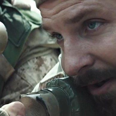 Actor Bradley Cooper portrays Chris Kyle in the movie American Sniper