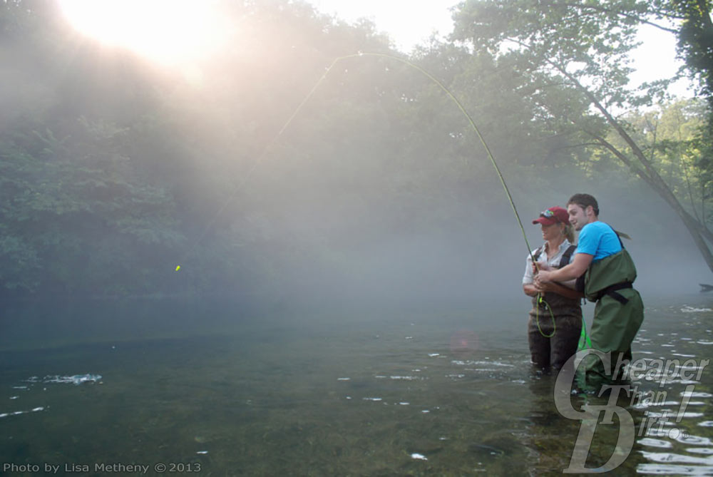 Fly fishing at a Casting for Recovery Retreat