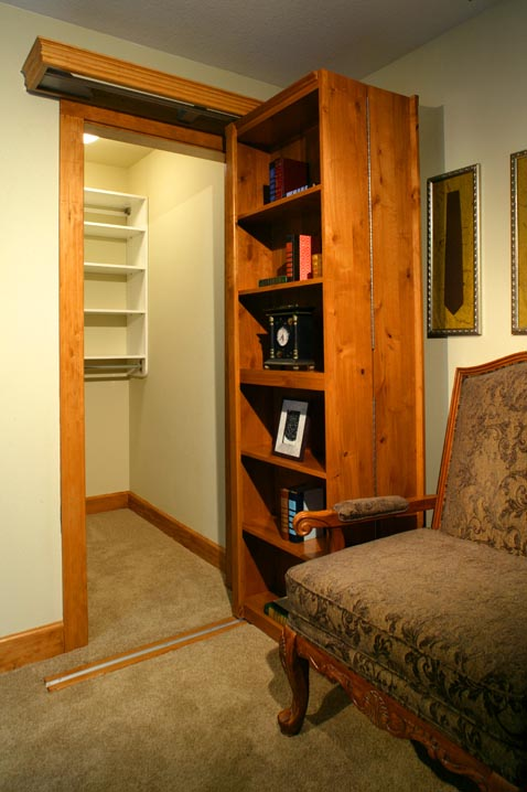 A bookcase makes a great cover up